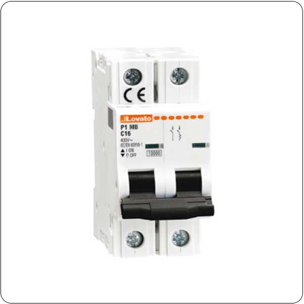 Thermomagnetic circuit breakers - 2P - characteristic B