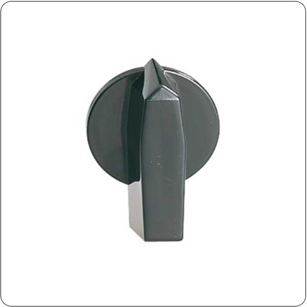 Black operating handle