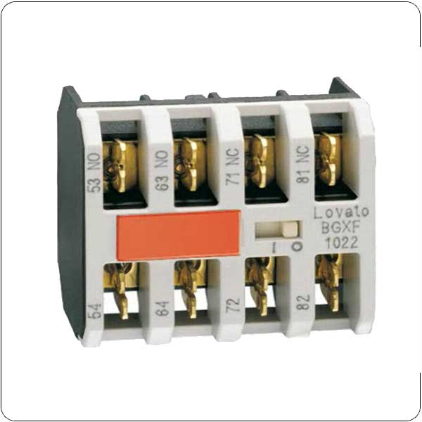 Auxiliary contacts. Faston terminals