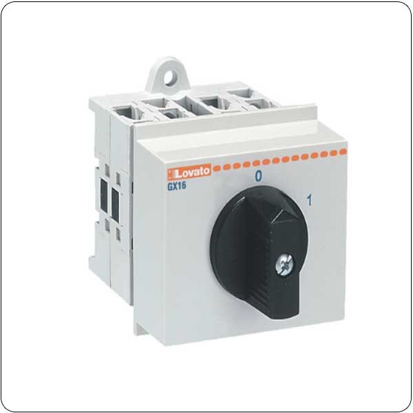 O48 version modular service cover 35mm DIN rail mount. ON/OFF switches