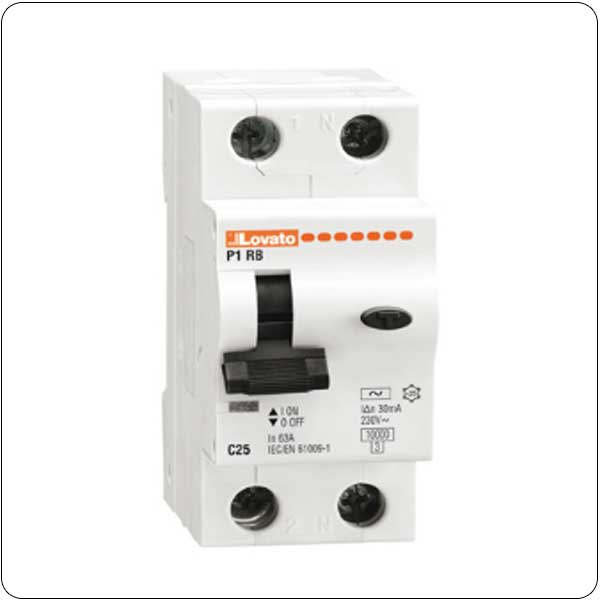 Residual current thermomagnetic circuit breakers - 1P+N - type AC