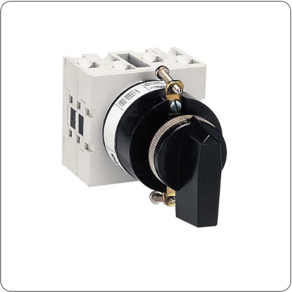 U11 version front mount with handle operation, for central 22mm fixing. ON/OFF switches