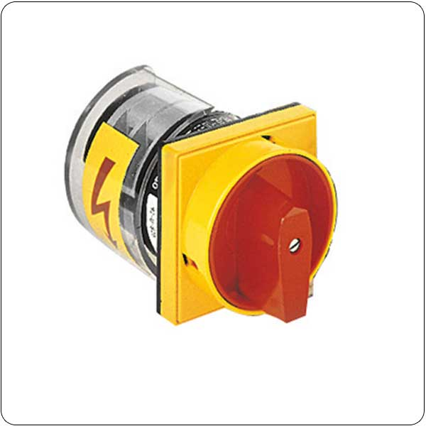 U25-U65 version front mount with padlock system, red/yellow. ON/OFF switches